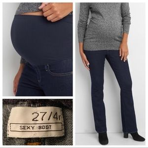 GAP Sexy Boot Over Belly Maternity Jeans 4